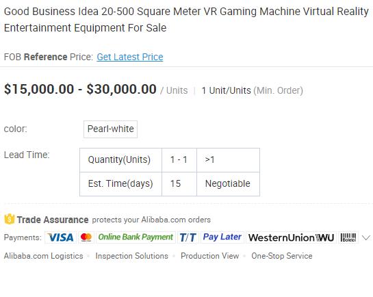 قیمت یک پروژه ی VR